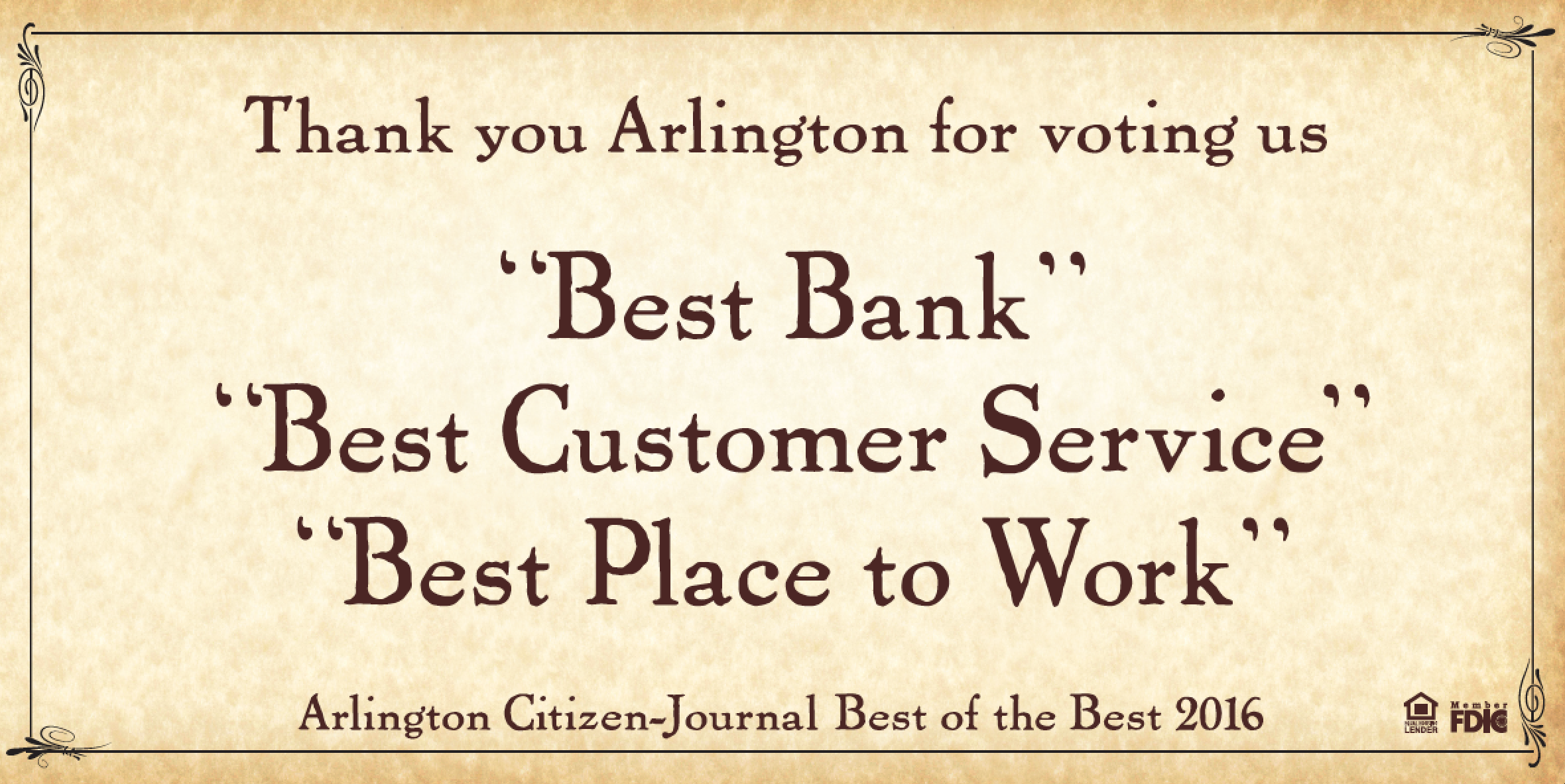 Arlington Citizen-Journal Best of the Best 2016